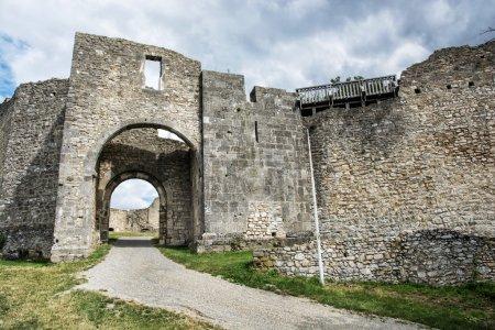 Castle ruins of Hainburg an der Donau, Austria, ancient