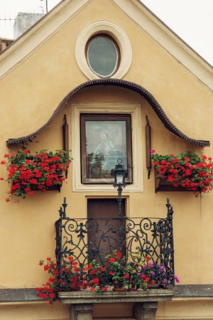 Old house with balcony