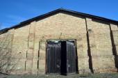 Opuštěné obrovský sovětský mléčné farmy