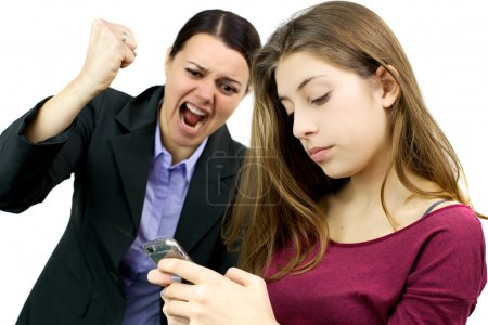 Woman willing to destroy cell phone of daughter