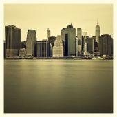 New York lower Manhattan skyline