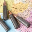 Постер, плакат: Bullets on the map of Afghanistan