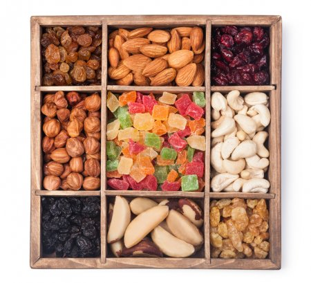Nuts and dried berries collection