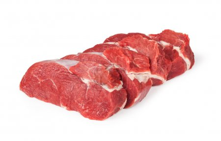 Photo for Raw beef meat isolated on white - Royalty Free Image