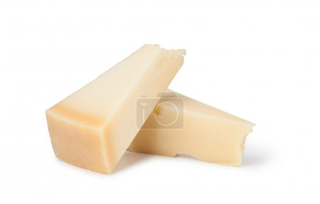 Photo for Parmesan cheese on white background - Royalty Free Image