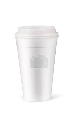 Photo pour Tasse de papier isolé sur fond blanc - image libre de droit