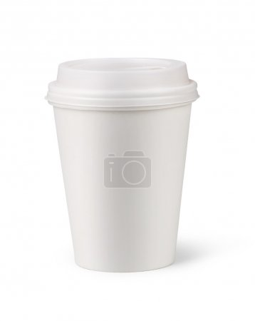 Photo for Paper cup isolated on white background - Royalty Free Image