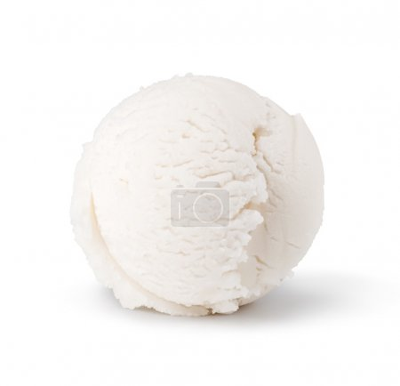 Ice cream scoop isolated on white background...