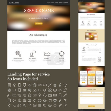 One page web site for service