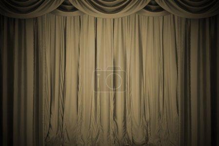 Open  theater curtain. 3d illustration