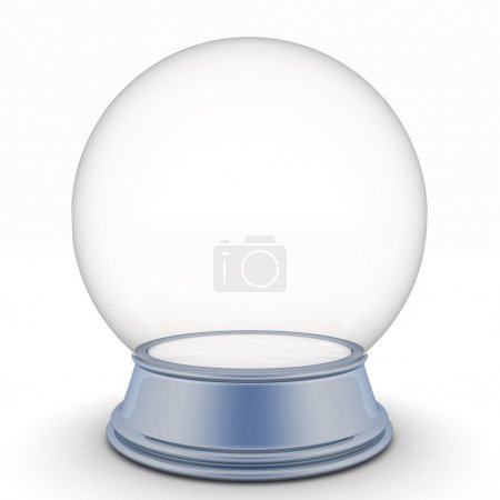 Isolated snow ball