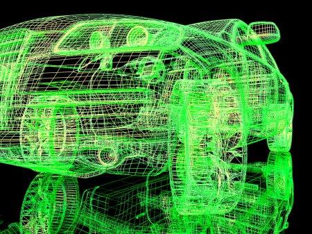 vista frontal de los coches de modelo moderno