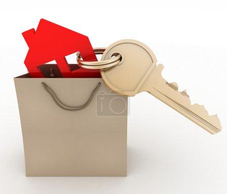 Model house symbol and key