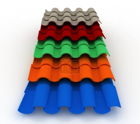 3d image roofing tiles