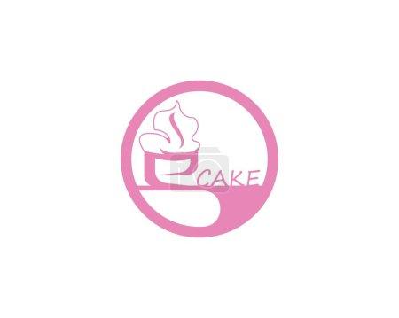 Illustration pour Gâteau icône logo design vecteur - image libre de droit
