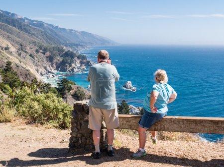 BIG SUR, USA - SEPTEMBER 17: Unidentified tourists on September