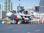 SAN DIEGO, USA - SEPTEMBER 19: Visitors on the USS Midway on Sep