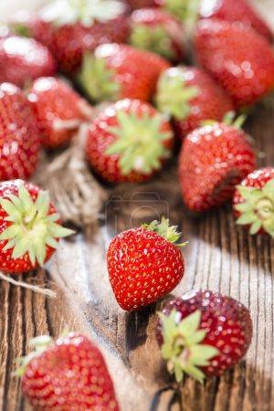 Fresh Strawberries on wood