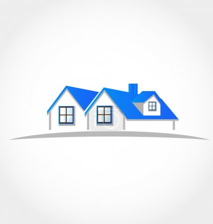 Illustration for Houses apartments vector logo icon design element - Royalty Free Image
