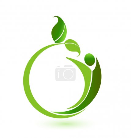 Illustration for Health nature logo application icon vector design - Royalty Free Image