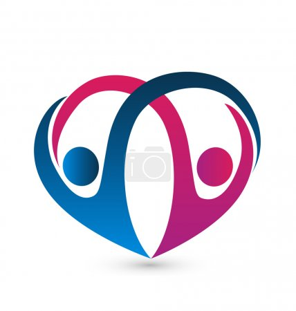 Logo of couple unity team vector icon