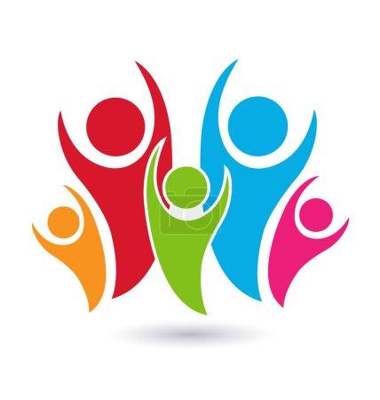 Illustration pour Vecteur famille symbole concept de l'union logo image - image libre de droit