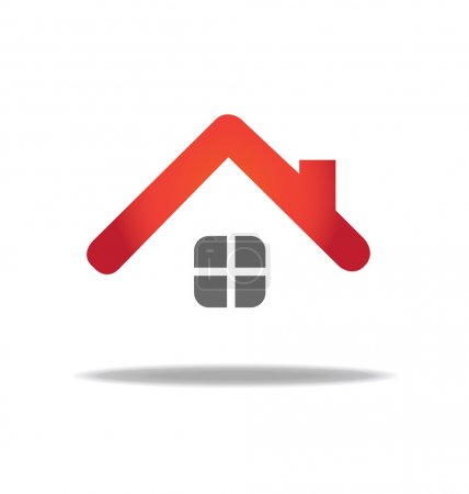 Illustration for House vector logo icon design template - Royalty Free Image