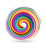 Spiral waves colorful rainbow color logo vector