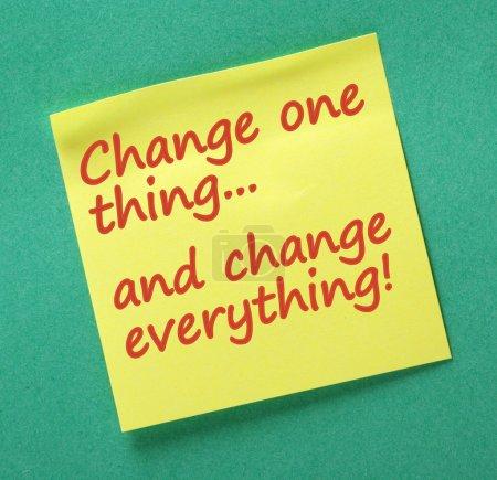 Cambia una cosa