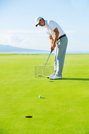 Golfer on Putting Green