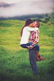 Fiatal pár a szerelem
