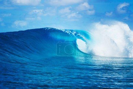 Foto de Blue Ocean Wave, Epic Surf - Imagen libre de derechos