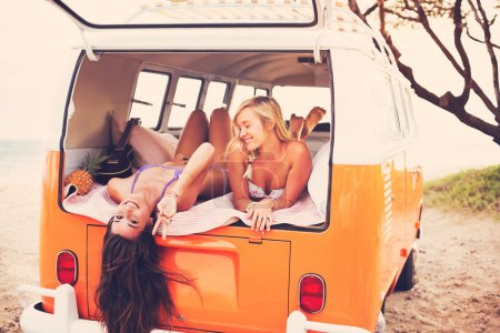 Surfer Girls Beach Lifestyle
