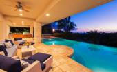 Luxury Home with Pool at Sunset