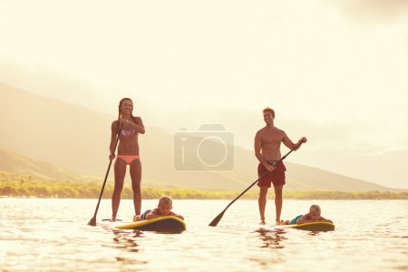 Family Stand Up Paddling