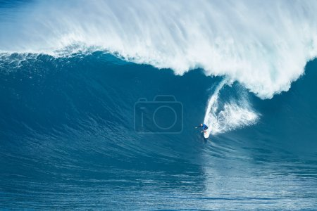 Surfer Rides GIant Wave at Jaws