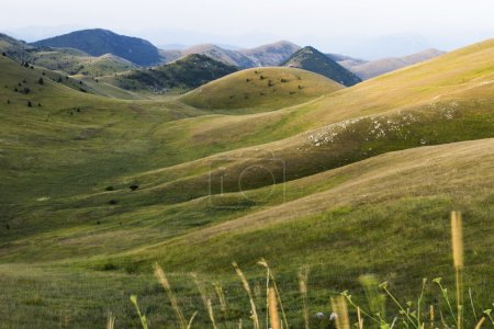 Apennines mountain hills near LAquila