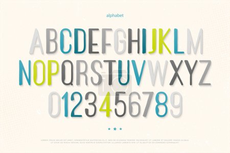 Modern alphabet letters and numbers. vector font type design. hand drawn lettering icons. contemporary, high typesetting. regular typeface template
