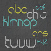 New set of stylish alphabet letters isolated over paper texture vector font type design