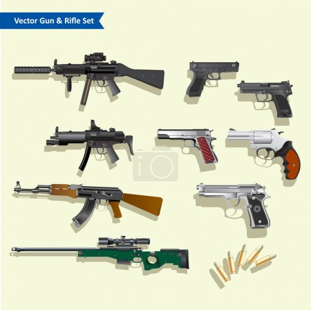 Weapon collection...