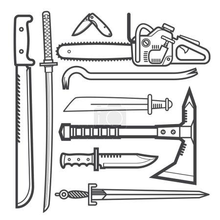 modern melee weapon set