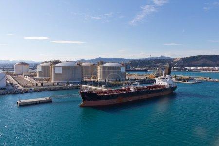 Oil Tanker at Terminal
