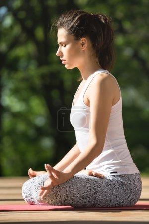 Girls yoga training