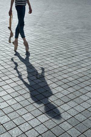 Shadow of the beautiful dancer