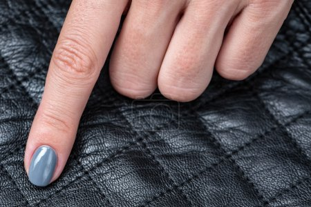 Womens hands with a stylish manicure.