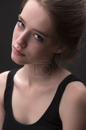 Close portrait of attractive blond girl