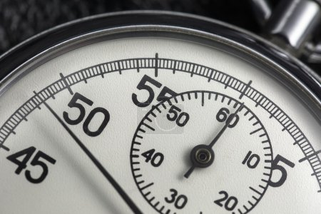 Photo of old analogue stopwatch.