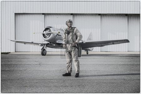 WWII Pilot and Airplane
