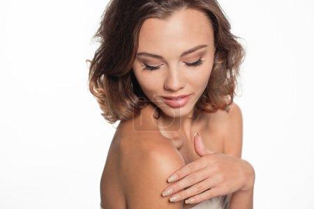 Photo pour Magnifique modèle portrait en studio - image libre de droit
