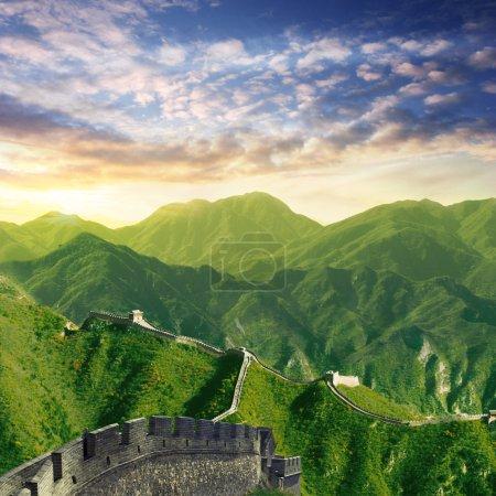 chinese wall dawn